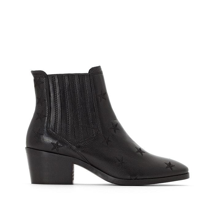 Boots chelsea en cuir détails étoiles  La Redoute Collections image 0