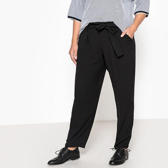 Pantalon droit style paper bag, avec ceinture  CASTALUNA image 0