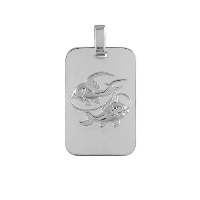 Pendentif plaque gi zodiaque poisson argent 925 couleur unique So Chic Bijoux | La Redoute Wiki Pas Cher mFuY5JokD