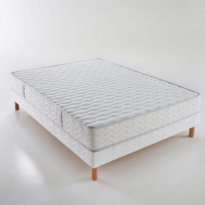 Image Matelas mousse HR & mousse à mémoire de forme grand confort luxe ferme H.22 cm REVERIE