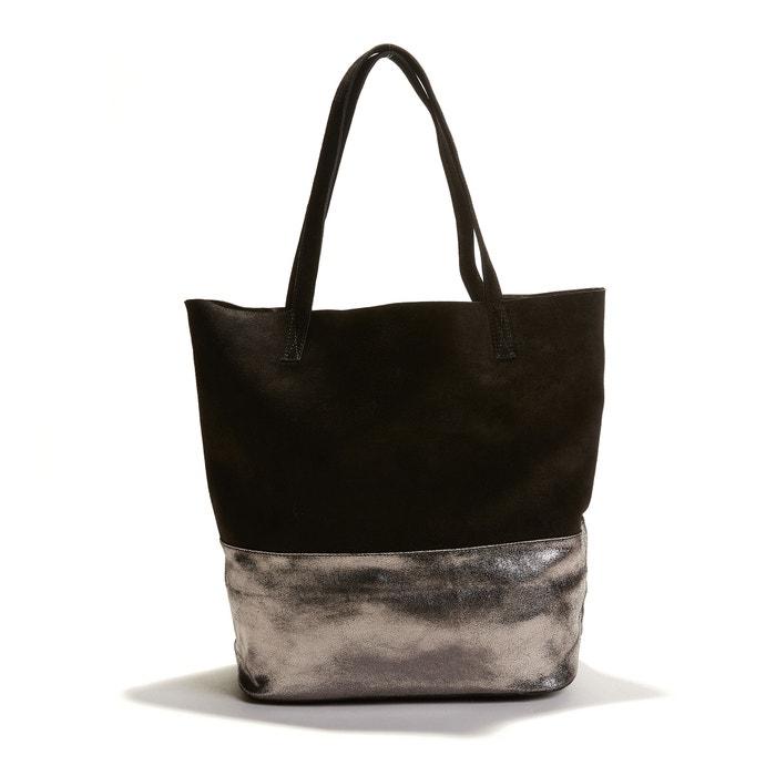 Reversible Two-Tone Metallic Look Handbag  La Redoute Collections image 0