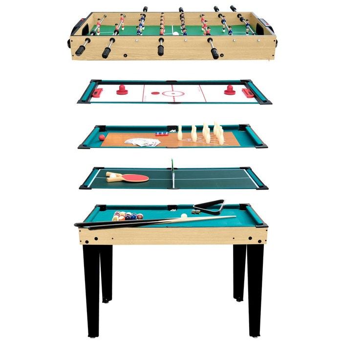 Table multi-jeux 10 en 1 bois Rendez Vous Deco   La Redoute 1078ee8ba044