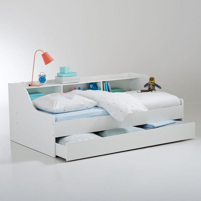 lit banquette avec tiroir et rangements palma blanc la redoute interieurs la redoute. Black Bedroom Furniture Sets. Home Design Ideas