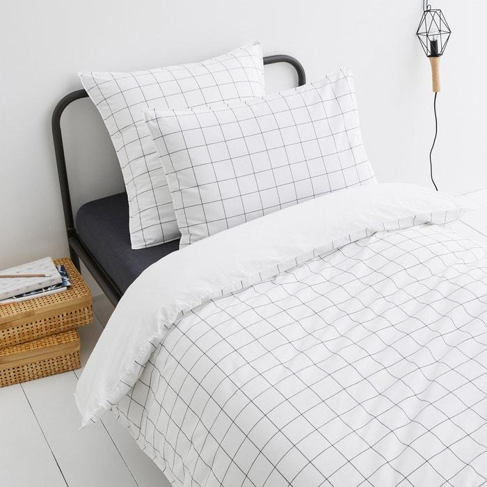 Ponlok Check Print Organic Cotton Duvet Cover  AM.PM. image 0