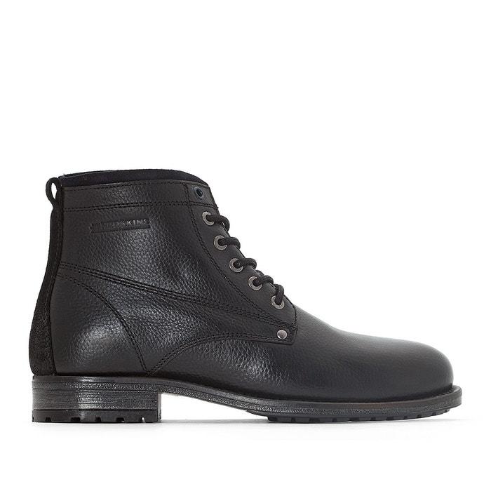 dc3d23a0b10a21 Boots cuir farouche noir   marine Redskins La Redoute GH8HUA1Z -  destrainspourtous.fr