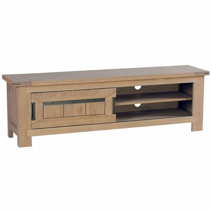 meuble tv en ch ne massif 2 niches 170 cm cuba ch ne cir pier import la redoute. Black Bedroom Furniture Sets. Home Design Ideas