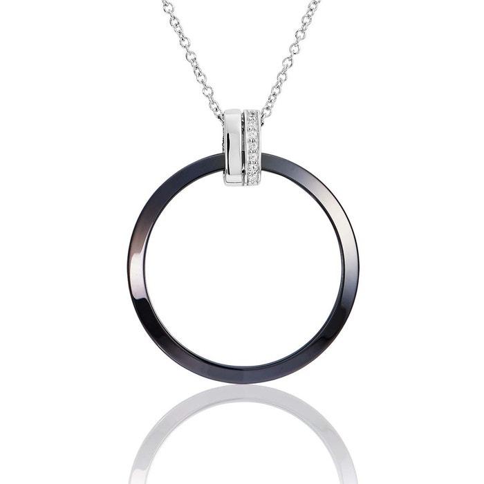 Collier argent 925/1000 céramique,oxyde multi couleur Cleor | La Redoute
