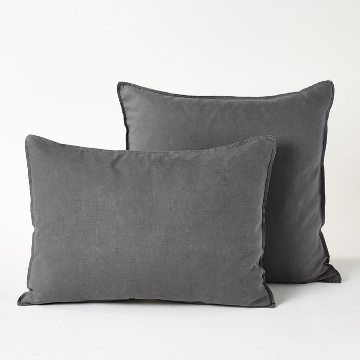 funda de almohada de lino lavado elina am pm la redoute. Black Bedroom Furniture Sets. Home Design Ideas