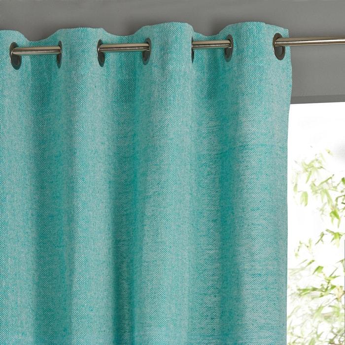 rideau bicolore finition oeillets la redoute interieurs turquoise cru la redoute. Black Bedroom Furniture Sets. Home Design Ideas