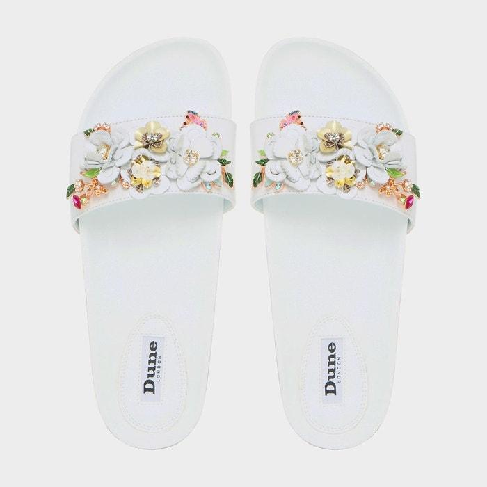 Sandales flower garden - laelia blanc cuir Dune London