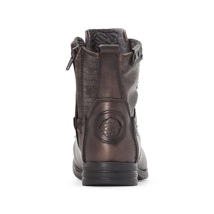 Boots cuir sar cognac Bunker
