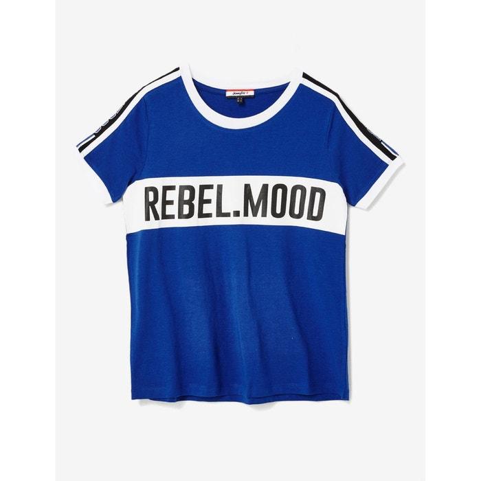 Tee Shirt A Message Bleu Jennyfer La Redoute