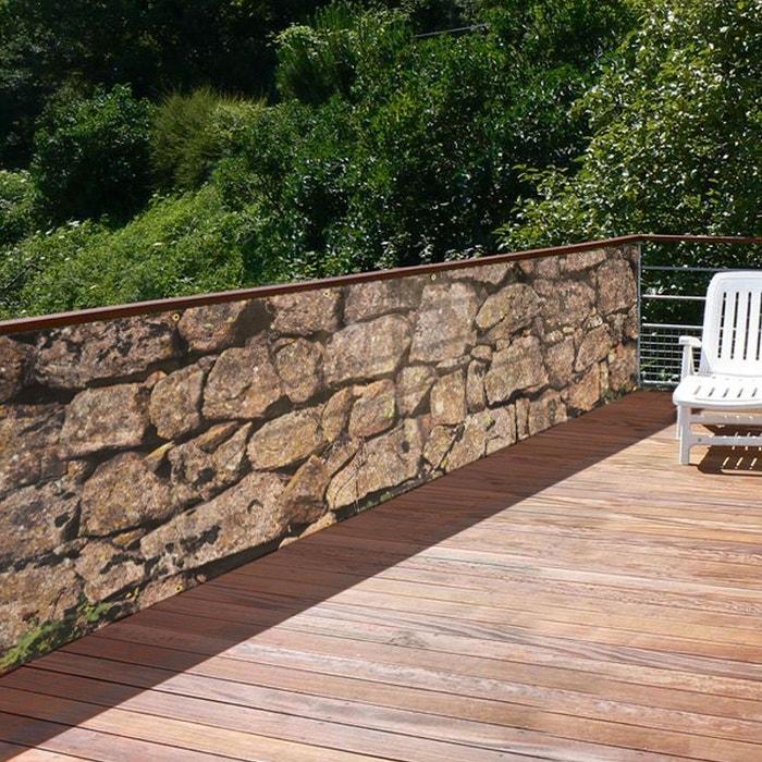 brise vue de jardin muret gris rendez vous deco la redoute. Black Bedroom Furniture Sets. Home Design Ideas