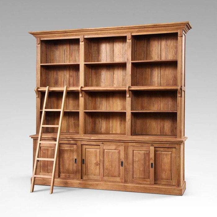 Biblioth que teck massif maha couleur unique kha home design la redoute - La redoute meuble bibliotheque ...