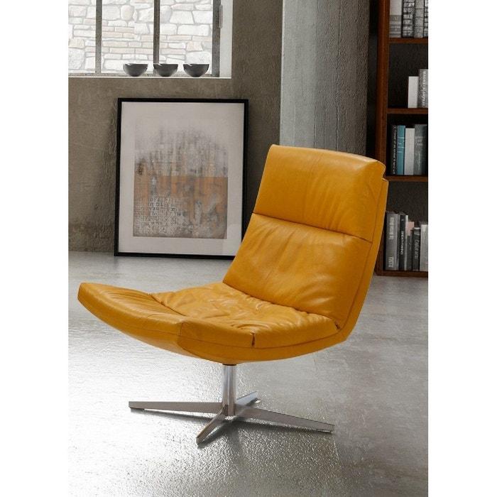 Jaune Jay Pivotant Cuir Design Allye Confort Et Fauteuil FcJKl1