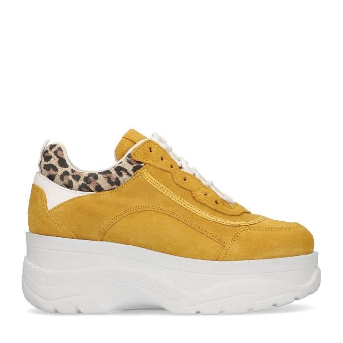 Dad shoes avec détail léopard jaune ocre Sacha Coût Des Prix Pas Cher Date De Sortie Limite Offre Pas Cher Moins Cher 3b9faMYBRH