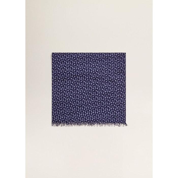 Foulard imprimé bleu marine Mango Man | La Redoute Qualité Supérieure Vente Vente Authentique qcK9i