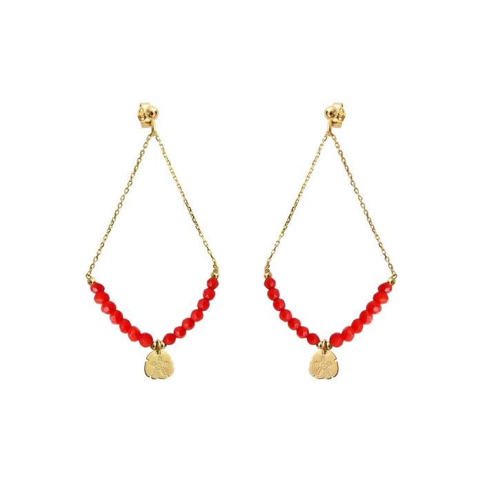 Boucles d'oreilles my favorite corail rouge or Mrs & Mr | La Redoute Réelle Prise ae53Z0Wa