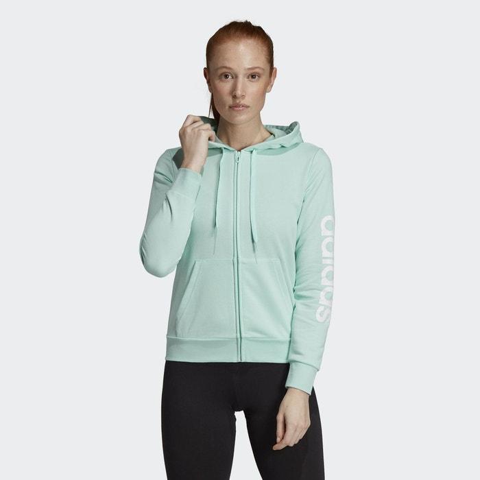 78d6816a3b Veste à capuche essentials linear vert Adidas Performance | La Redoute
