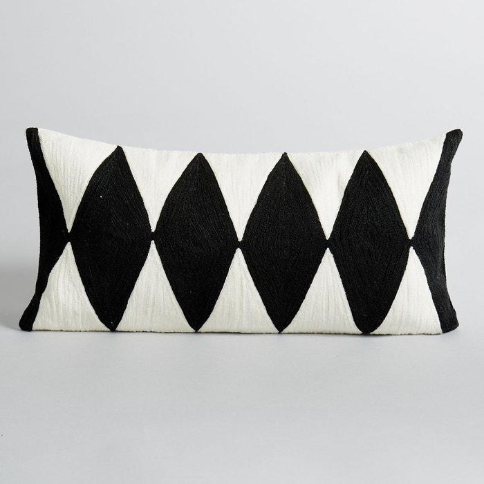 housse de coussin alazie ecru noir am pm la redoute. Black Bedroom Furniture Sets. Home Design Ideas