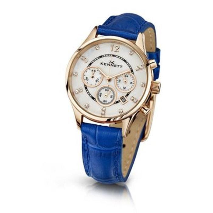 Montre kennett plaqué or, lady bleu bleu Kennett | La Redoute