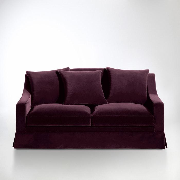 afbeelding 2- of 3-zit canapé, vast model, superieur comfort, fluweel, Evender La Redoute Interieurs