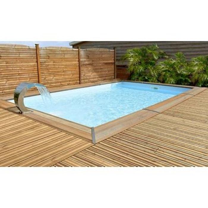 piscine bois rectangulaire escalier 449 x 349 x 15 m maeva. Black Bedroom Furniture Sets. Home Design Ideas