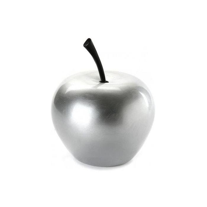 D Coration Pomme Argent H10 Fructis Gris Declikdeco La