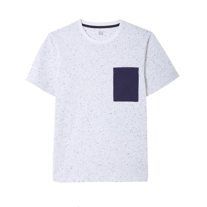 Camiseta lisa con cuello redondo y manga corta, Oeko Tex  La Redoute Collections image 0