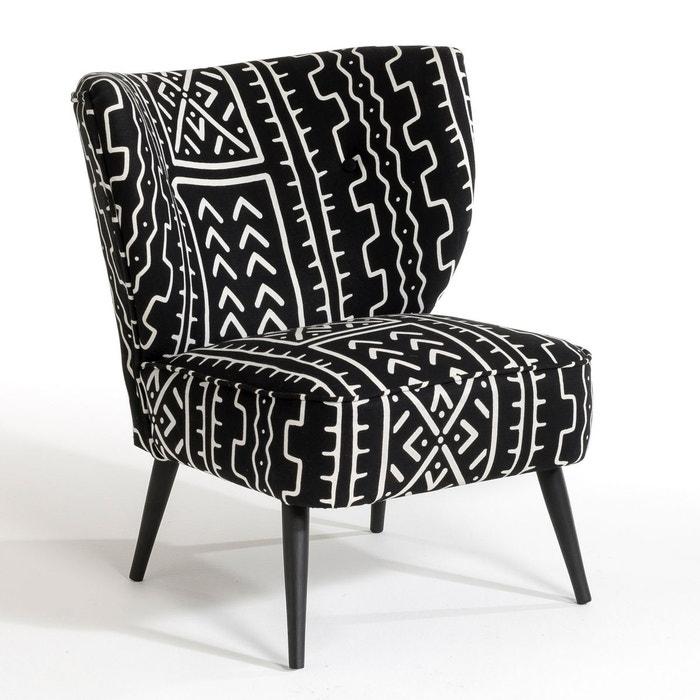 fauteuil motif bambara franck noir am pm la redoute. Black Bedroom Furniture Sets. Home Design Ideas