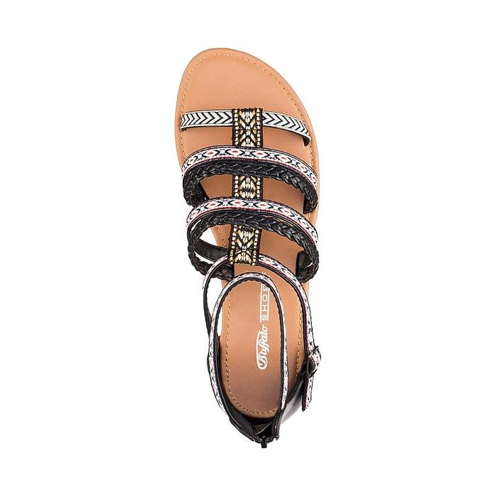 Sandales plates Buffalo