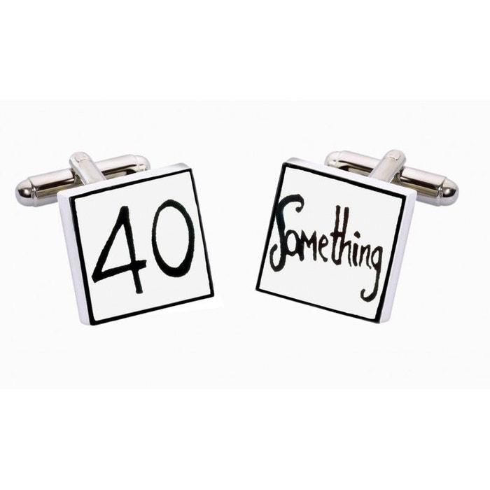 Bouton de manchette 40 ans et plus... anniversaire blanc Sonia Spencer | La Redoute Magasin D'alimentation Acheter Pas Cher 2018 0Q4sm7QBx