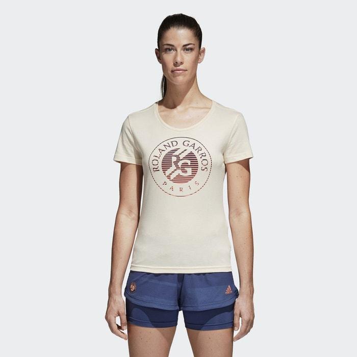 Performance Shirt Garros La Redoute Ecru Roland Adidas Tee 67qB7
