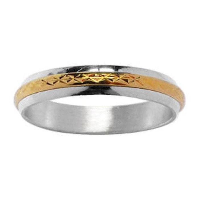 Bague alliance anneau motif 4 mm argent 925 & plaqué or 750 couleur unique So Chic Bijoux | La Redoute Dépêchez-vous 3zSiYFPEm