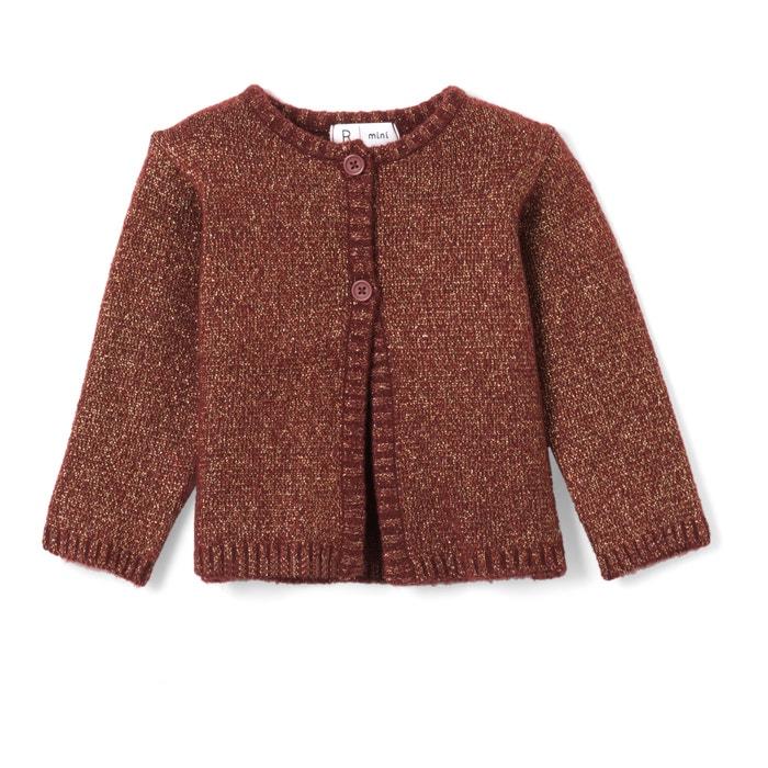 Gilet in maglia brillante 1 mese - 3 anni  La Redoute Collections image 0