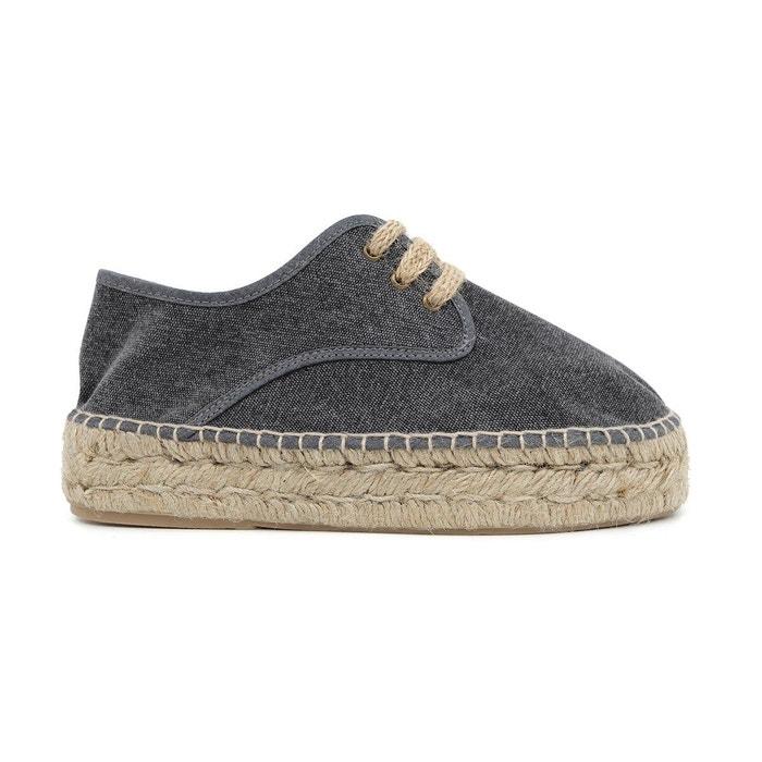 Blucher coton heidi  noir Polka Shoes  La Redoute