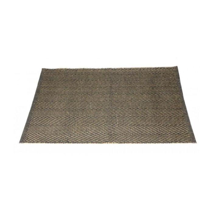 tapis de bain chevrons jute et coton gris gris wadiga la. Black Bedroom Furniture Sets. Home Design Ideas