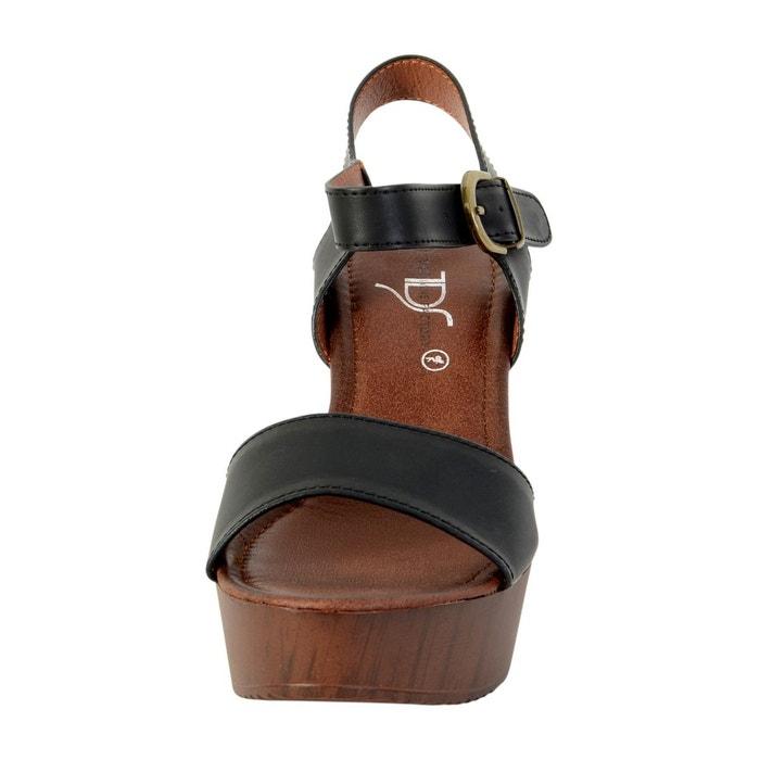 Sandale talon noir noir The Divine Factory
