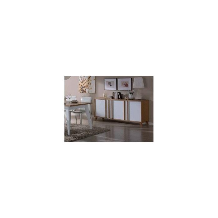 Mondrian Buffet Coloris Ivoire Portes 3 Moderne YbvmIf7yg6