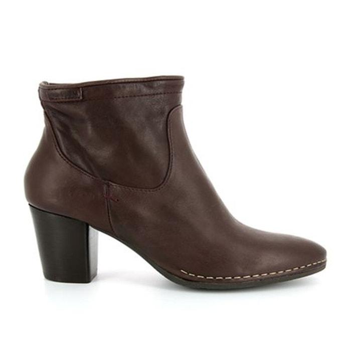 Boots cuir à talon onside bordeaux P Le Moins Cher À Vendre amazone Prix Le Moins Cher À Vendre CumCNW