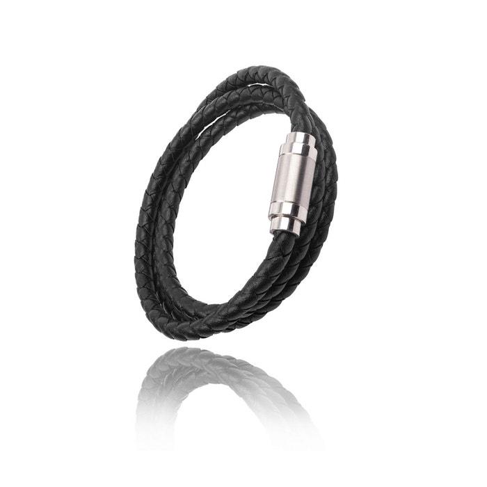 Sortie Profiter Livraison Gratuite Meilleure Vente Bracelet en cuir magnétique 3 tours Sqmp2f