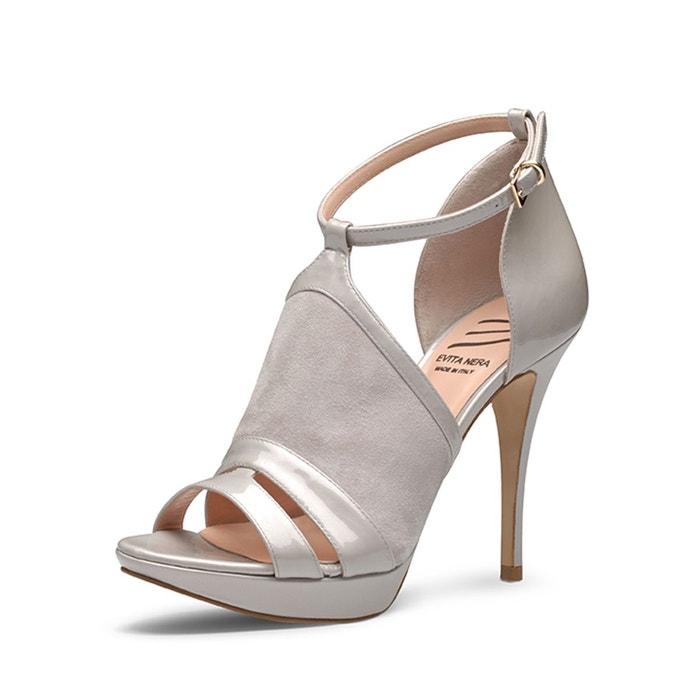 Sandales femme gris clair Evita De France xCOYRQLU