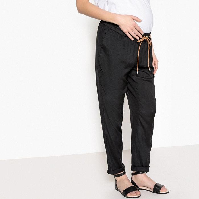 pantalon fluide de grossesse noir la redoute maternit la redoute. Black Bedroom Furniture Sets. Home Design Ideas