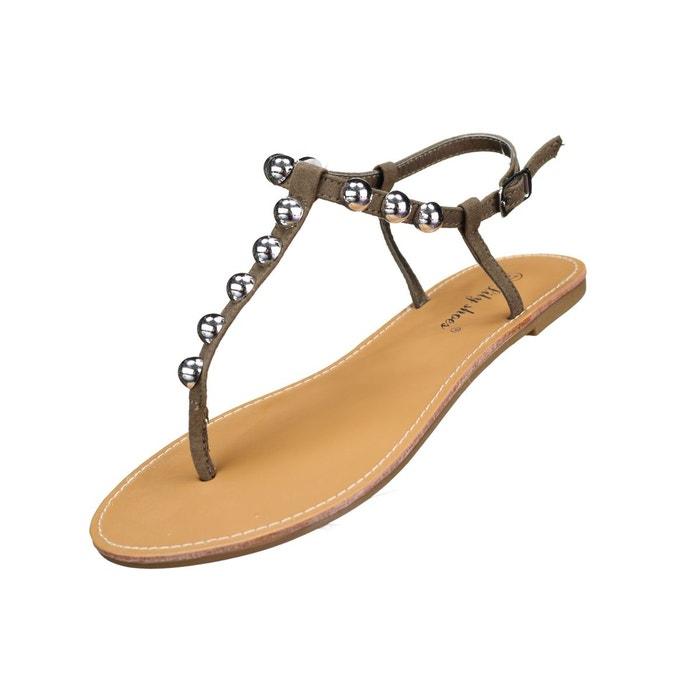 Sandales à clous  vert Leader Mode  La Redoute