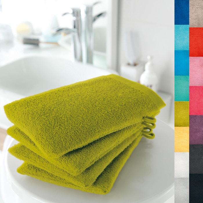 Lote de 4 luvas de banho 420 g/m² SCENARIO