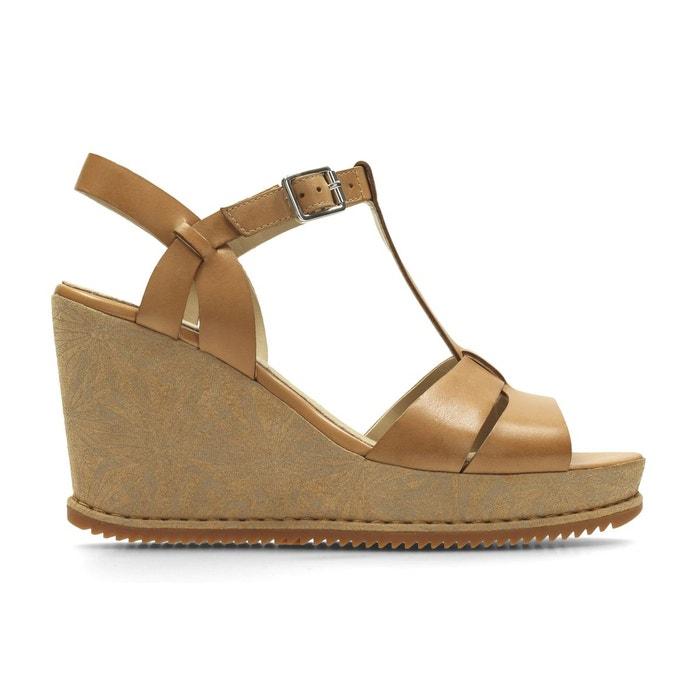 Sandales cuir compensées adesha river tan Clarks