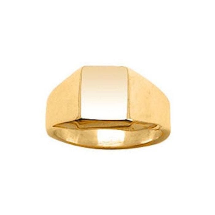 Chevalière bague anneau rectangle vermeil (or 750 sur argent 925) couleur unique So Chic Bijoux | La Redoute Livraison Rapide Coût De Sortie gIzIxe2g