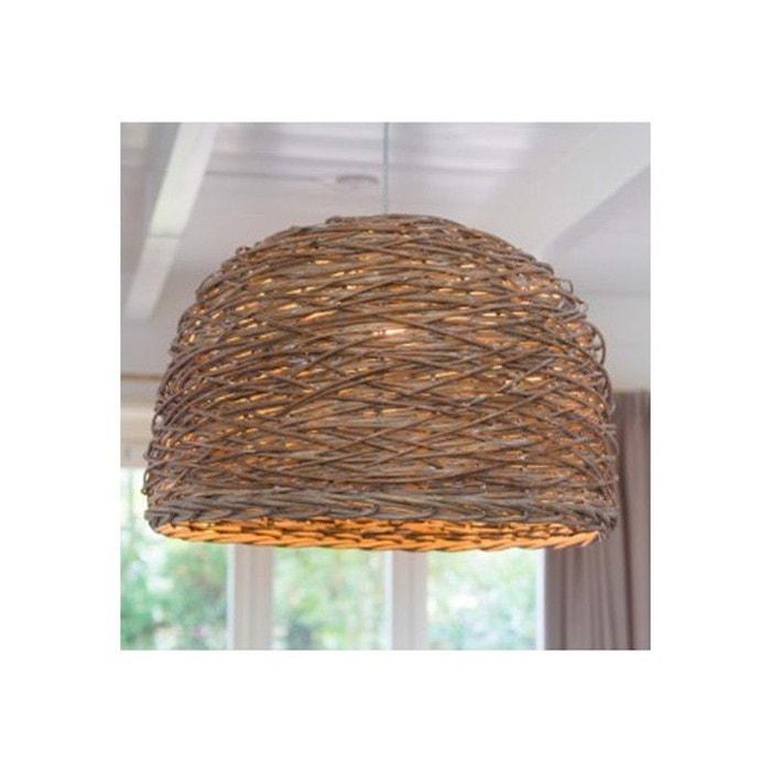 grand lustre en bois rustique nest 50 cm beige millumine la redoute. Black Bedroom Furniture Sets. Home Design Ideas