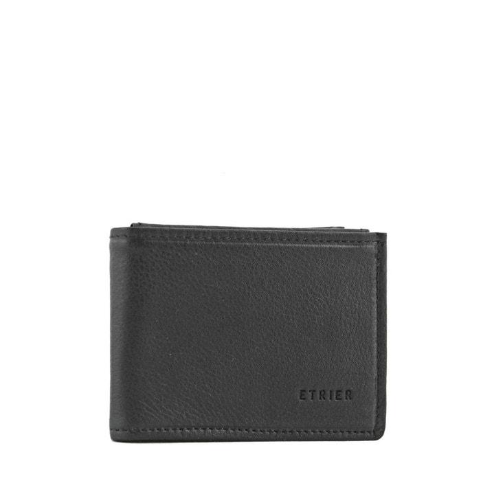 9cbefd33dd1 Porte-monnaie cuir noire Etrier
