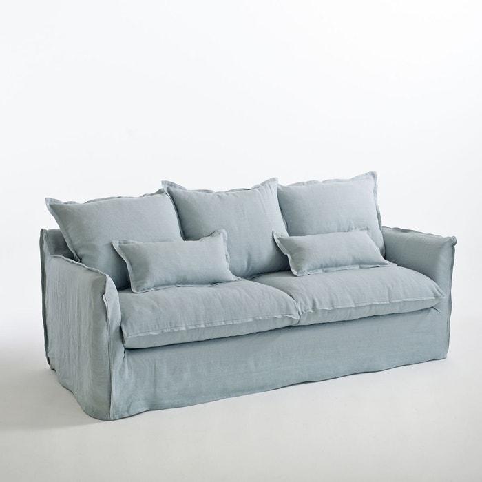 Canapé fixe en lin froissé, Odna La Redoute Interieurs